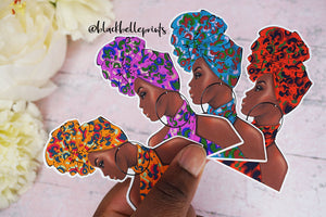 African Fashion 'Melaninaire' Die Cut Stickers