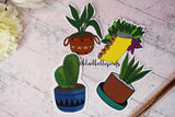 Houseplant Botanical Die Cut Stickers
