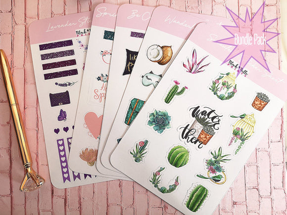 BUNDLE PACK Planner and Journal Stickers