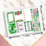 Summer Tropical Full Kit Planner Stickers