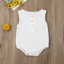 Load image into Gallery viewer, 0-24M Newborn Cotton Linen Romper Baby Boy Girl Sleeveless Solid Romper Infant Toddler Outfit Sunsuit Clothes