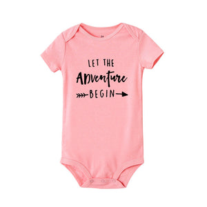Let The Adventure Begin Baby Onesie Pregnancy Announcement Onesie Clothing Baby Boys Girls Bodysuit Jumpsuit Clothes Outfits