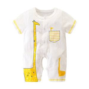 Summer Baby Boy roupa de bebes Newborn Jumpsuit Long Sleeve Cotton Pajamas 0-12 Months Rompers Baby Clothes