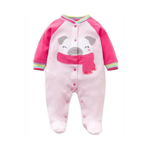 2019 Spring Autumn Baby Romper 100% Cotton Newborn Baby Clothes Long Sleeve Baby Girl Clothing Cartoon Jumpsuit Infant Clothes
