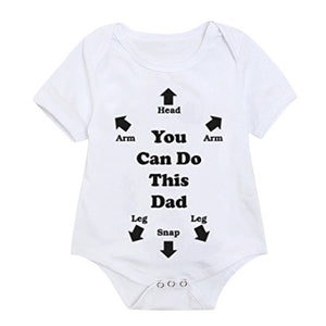 Toddler Baby Girls Boys Bodysuit Letter Printed Newborns Summer Short Sleeved Tops Sunsuit Fashion Infant Kids Clothes 3M-4T A20