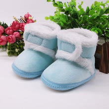 Load image into Gallery viewer, Warm Newborn Toddler Boots Winter First Walkers baby Girls Boys Shoes Soft Sole Fur Snow Booties for 0-18M