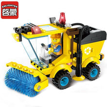 Load image into Gallery viewer, City Construction Road Roller Forklift Truck Tractor Sweeper Truck Building Blocks Kids Toy Compatible Legoinglys City Bricks