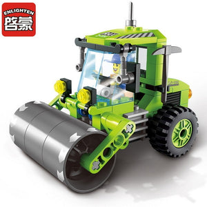 City Construction Road Roller Forklift Truck Tractor Sweeper Truck Building Blocks Kids Toy Compatible Legoinglys City Bricks