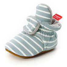 Load image into Gallery viewer, Newborn Baby Socks Shoes Boy Girl Star Toddler First Walkers Booties Cotton Comfort Soft Anti-slip Warm Infant Crib Shoes