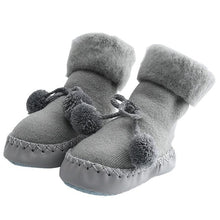 Load image into Gallery viewer, New Floor Socks Baby Plus Velvet Warm Toddler Shoes Non-slip