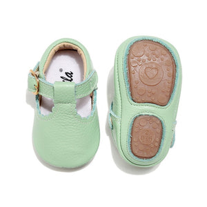 Baby Moccasins Princess Hard Sole First Walkers Toddler Girl Shoes Newborn Baby Girl Mary Jane Shoes Genuine Leather Baby T-bar