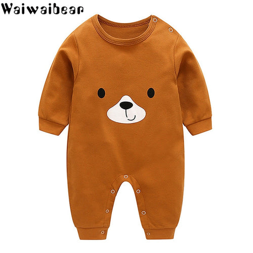 Baby Clothes Infant Rompers Boys&Girls Long-Sleeved Rompers Cartoon Infant Jumpsuit Baby Toddler Clothes Christmas Clothes-BB8
