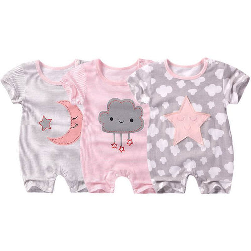 2019 Summer New Short Sleeved Girls Clothes Baby Romper Cotton Newborn Body Suit Baby Pajama Boys Jumpsuit Rompers