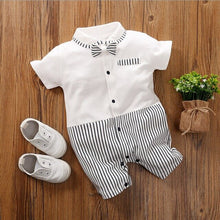 Load image into Gallery viewer, bunvel Baby Infant Rompers Patchwork Baby Girl Clothes White Necktie Baby Winter Clothes Boys Rompers Kids Costume For Girl 45