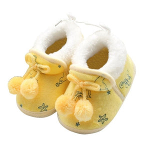 Winter Sweet Newborn Baby Girls Princess Winter Boots First Walkers Soft Soled Infant Toddler Kids Girl Footwear Shoes