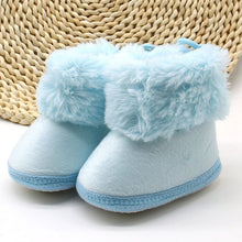 Load image into Gallery viewer, Winter Sweet Newborn Baby Girls Princess Winter Boots First Walkers Soft Soled Infant Toddler Kids Girl Footwear Shoes