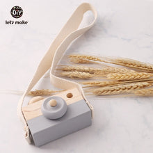 Load image into Gallery viewer, Let's make 1pc Wooden Baby Toys Fashion Camera Pendant Montessori Toys For Children Wooden DIY Presents Nursing Gift Baby Block