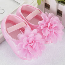 Load image into Gallery viewer, Newborn Toddler shoes first Walking Shoes Kid Baby Girl Chiffon Flower Elastic Band shoes buciki dla niemowlat1.432
