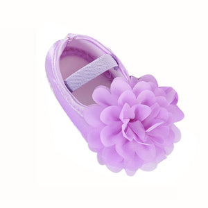 Newborn Toddler shoes first Walking Shoes Kid Baby Girl Chiffon Flower Elastic Band shoes buciki dla niemowlat1.432