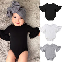 Load image into Gallery viewer, 3 Color Newborn Infant Baby Girl Clothes Flared Sleeve Romper Brife Jumpsuit Sunsuit Outfits