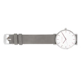 Mini Duo Minimalist Watch in Silver/Rose Gold/Grey Suede