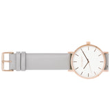 Classic Minimalist 42mm Timepiece in Rose Gold