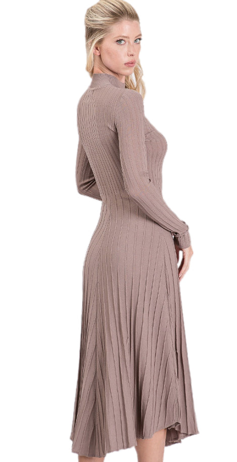 Angela Midi Dress in Mud