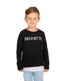 Brunette Kids Crew in Black