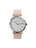 Classic Minimalist Watch in Silver/Tan