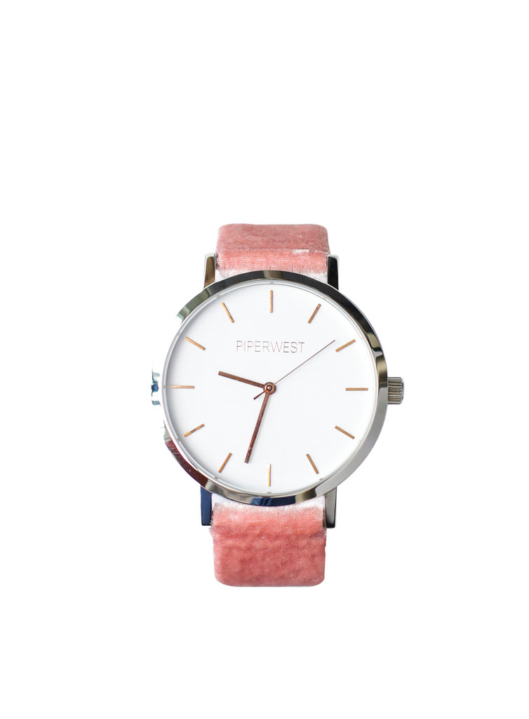 Duo Minimalist 42mm Timepiece in Silver/Rose Gold