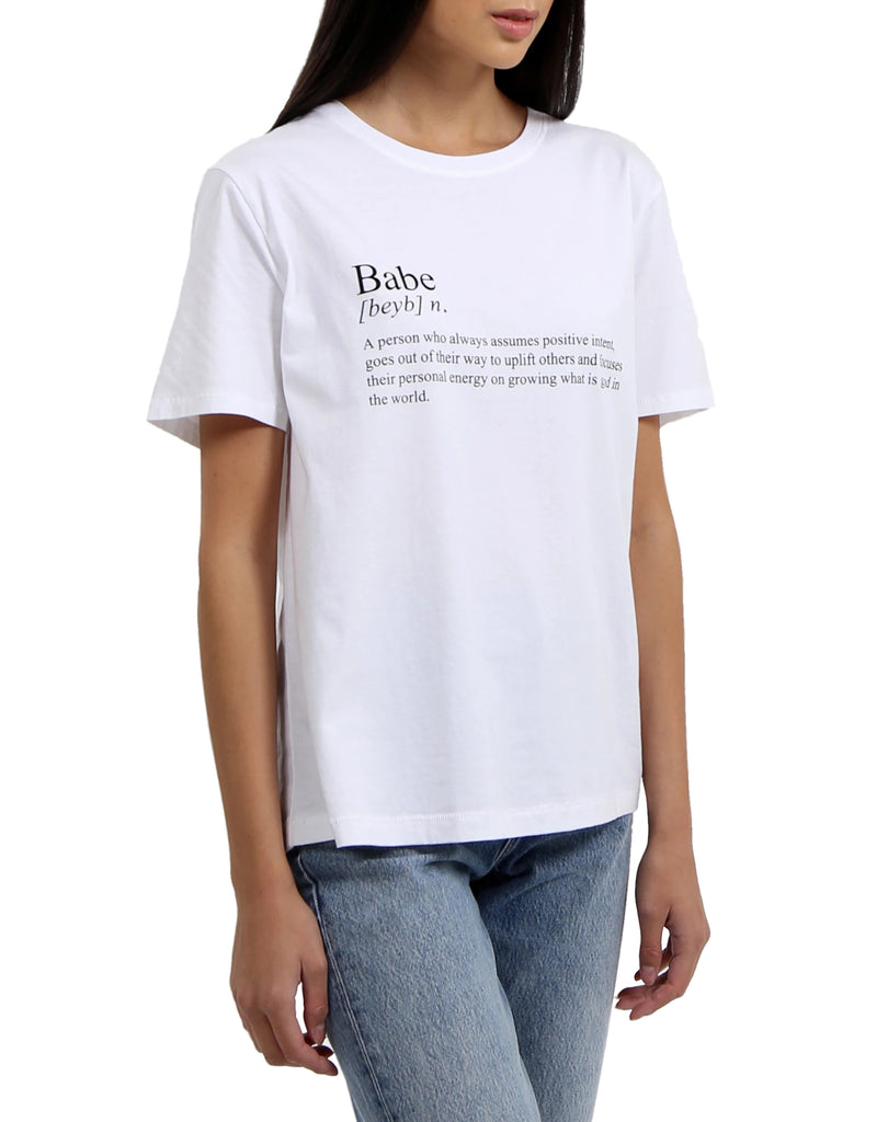 Definition of a Babe Crew Tee