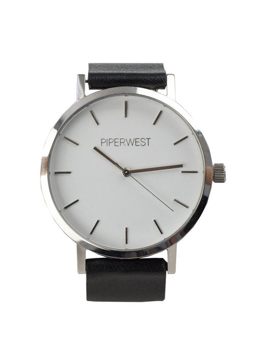Classic Minimalist Watch in Silver/Black