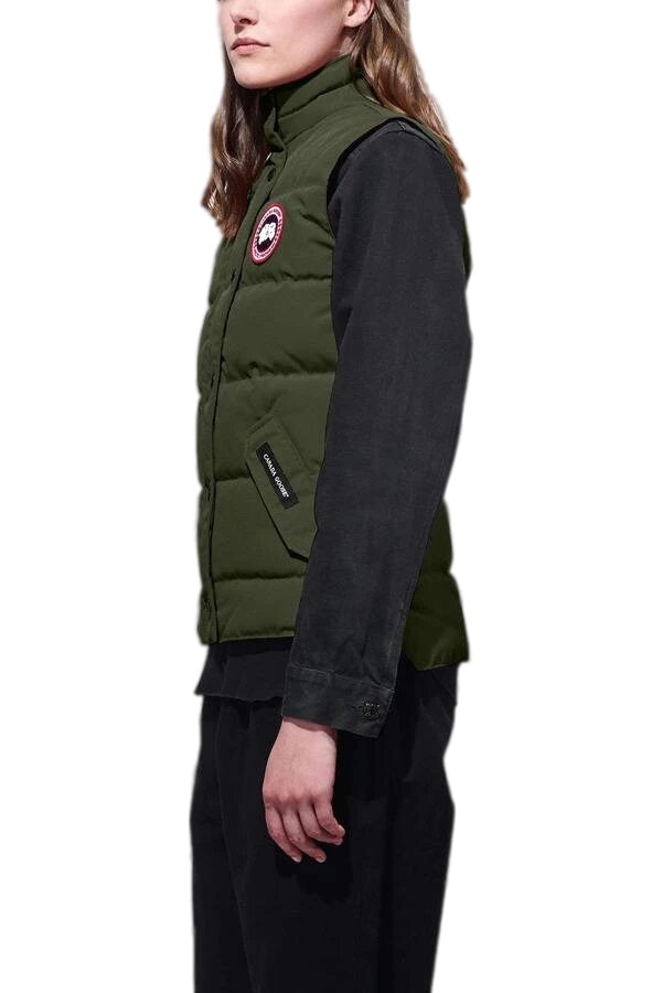 Ladies Freestyle Vest in Military Green