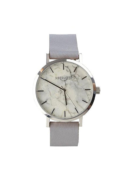 Marble Minimalist Watch in Silver/Grey