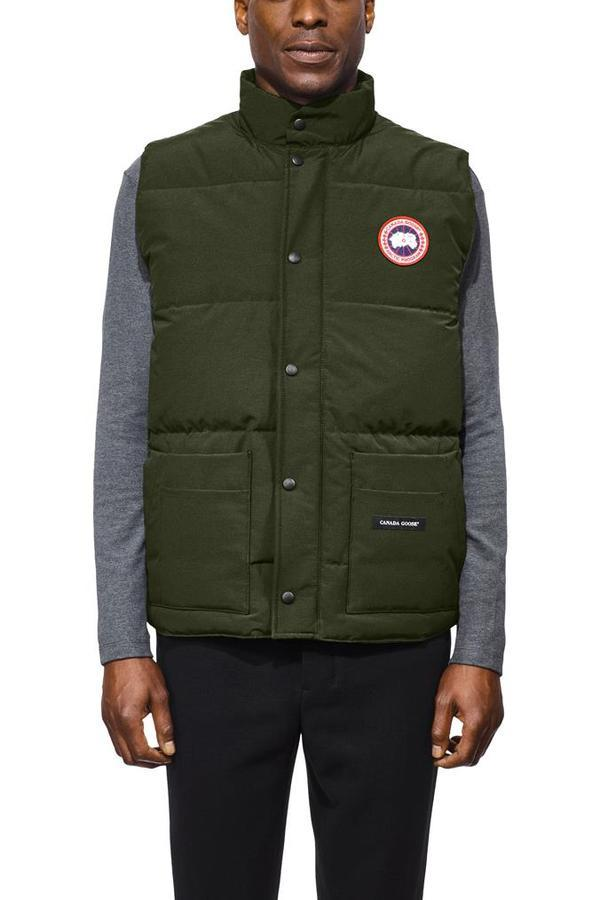 Men's Freestyle Crew Vest in Military Green