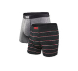 Vibe Boxer Brief 2PK in Grey/ Shallow Stripe