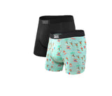 Vibe Boxer Brief 2PK in Black / Surf Santas