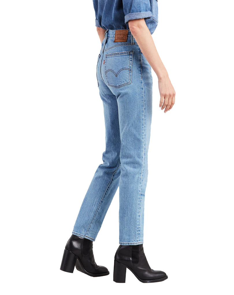 Wedgie Icon Distressed Denim in Bright Side