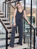 Caress Jumpsuit In Heather Grey
