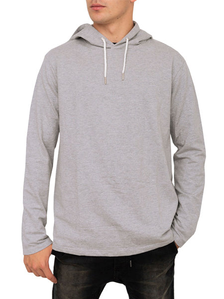 Long Sleeve Light Terry Pullover Hoodie