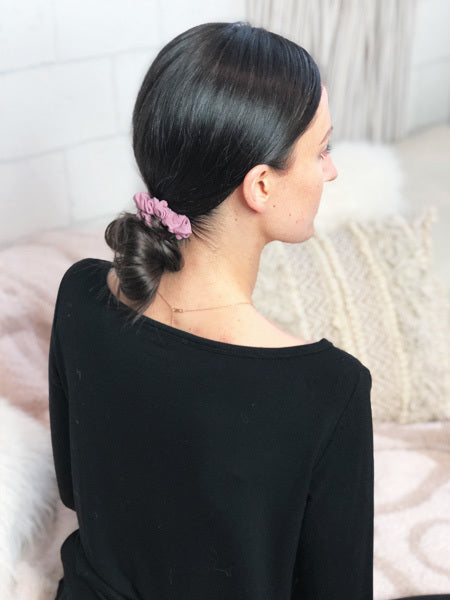 Mini Sleep Scrunchie in Dusty Rose