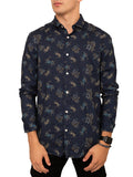 Long Sleeve Printed Button Down Shirt