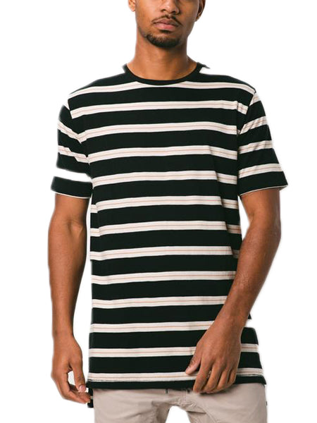 Stripe Flintlock Tee In Black/Shell