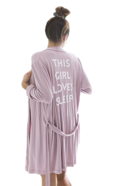 This Girl Loves Sleep Robe in Mauve