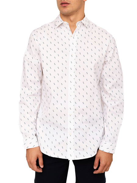 Andover Printed Stretch Dress Shirt
