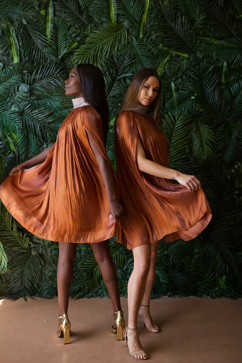 Baruni Bronze Poncho Dress