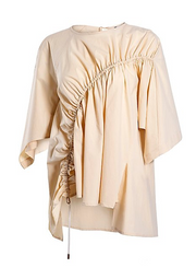 Lightweight Ruched Poncho Blouse