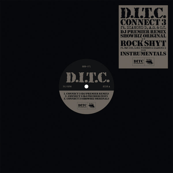 D.I.T.C. - Connect 3/Rock Shyt - Standard Black Vinyl