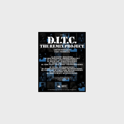 D.I.T.C. - The Remix Project Instrumentals - LP (Test Pressing)
