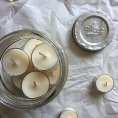 AGEE VINTAGE JAR / TEA LIGHTS